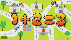 Single digit numbers addition math game for children, add and subtract single digit numbers game for grade 1 and 2, adding and subtracting math game for children of all grades