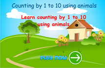 counting up to 10 math game for children, counting game for 5 years old kids, numbers game for children in grade 1