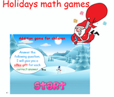 counting up to 5 game with Santa claus, counting winter game for preschoolers and toddlers