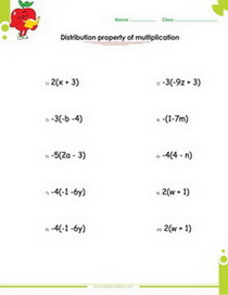 Using the Distributive Property (All Answers Include Exponents) (A)