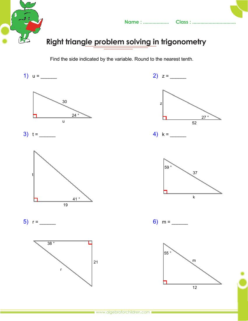 Solving Right Triangles Worksheet Tecnologialinstante – Solving Right Triangles Worksheet Answers