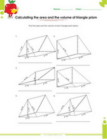 Surface Area & Volume of Solid figures worksheets