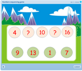 Numbers sequencing game for children, holiday season math game for children, math games for children during holiday, ordering games for ks1,ks2 and first grade